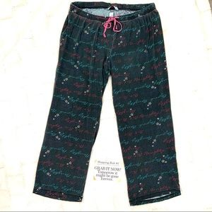 "Cacique Black ""Naughty"" Pajama Pants"